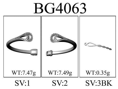 925 Silver Garnet Bangle angle