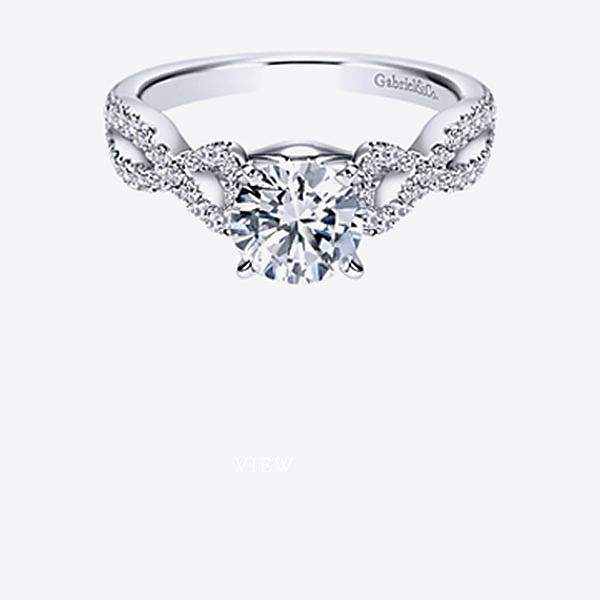 Gabriel & Co Engagement Rings Criss Cross