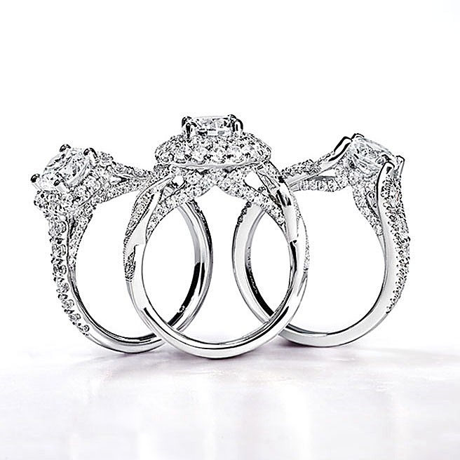 Gabriel & Co Engagement Rings Entwined