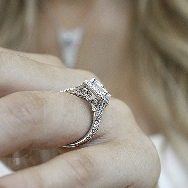 Gabriel & Co Engagement Rings Halo