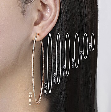 Hoop Earrings Measurements - Gabriel & Co.