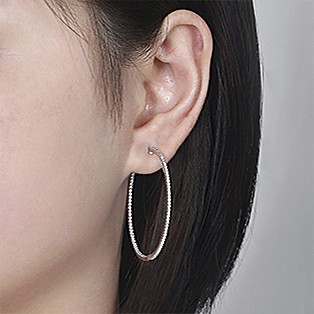 Hoop Earrings Measurements - 40 MM - Gabriel & Co.