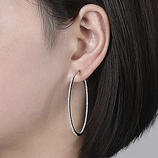 Hoop Earrings Measurements - 50 MM - Gabriel & Co.