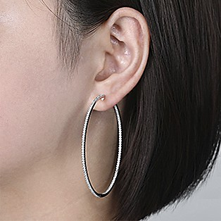 Hoop Earrings Measurements - 60 MM - Gabriel & Co.