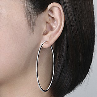 Hoop Earrings Measurements - 70 MM - Gabriel & Co.