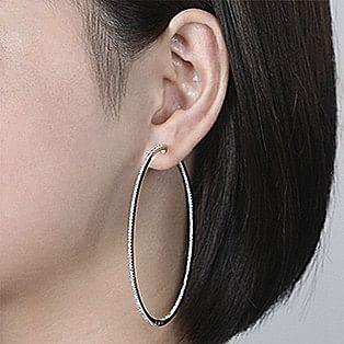 Hoop Earrings Measurements - 70 MM - Gabriel & Co.