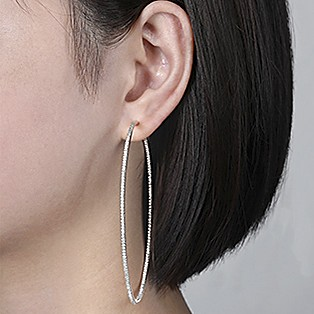 Hoop Earrings Measurements - 80 MM - Gabriel & Co.