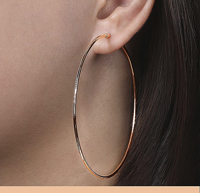 Rose Gold Hoops - Gabriel & Co.