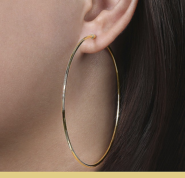 Yellow Gold Hoops - Gabriel & Co.