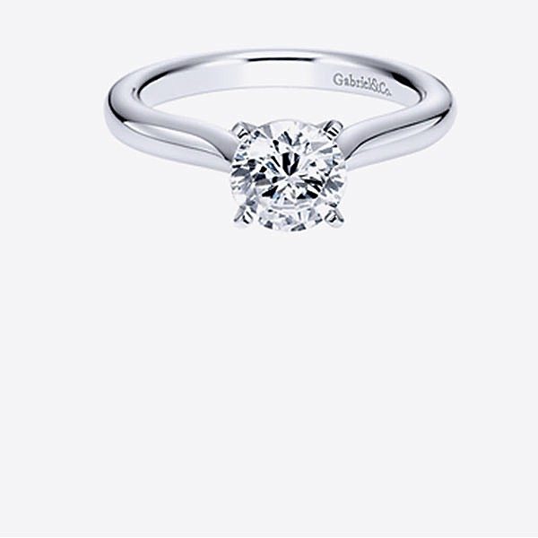 Gabriel & Co Engagement Rings Solitaire