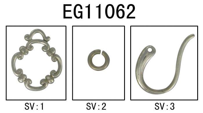925 Sterling Silver Garnet Clover Drop Earrings angle