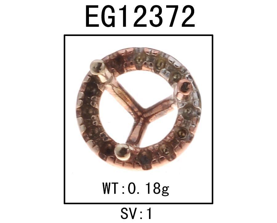 14k Rose Gold Diamond Halo Garnet Stud Earrings angle