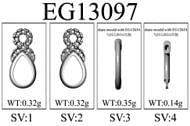 14K Yellow Gold Fashion Earrings angle