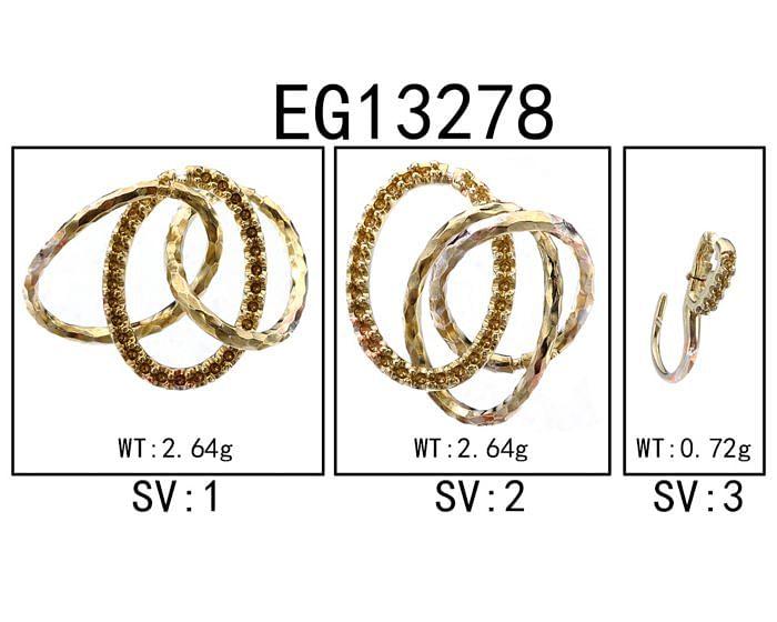 925 Sterling Silver Garnet Triple Circle Drop Earrings angle