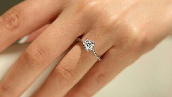 Blair 14k White Gold Round Solitaire Engagement Ring