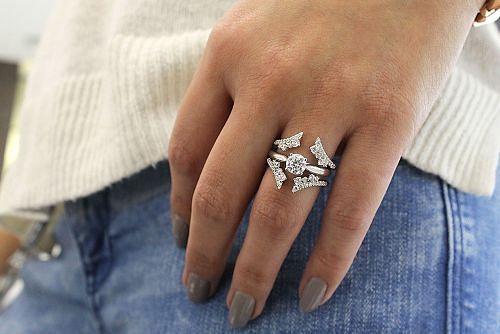 14K White Gold Diamond Ring Enhancer angle
