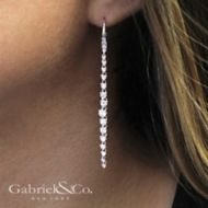 18k White Gold Waterfall Drop Earrings angle