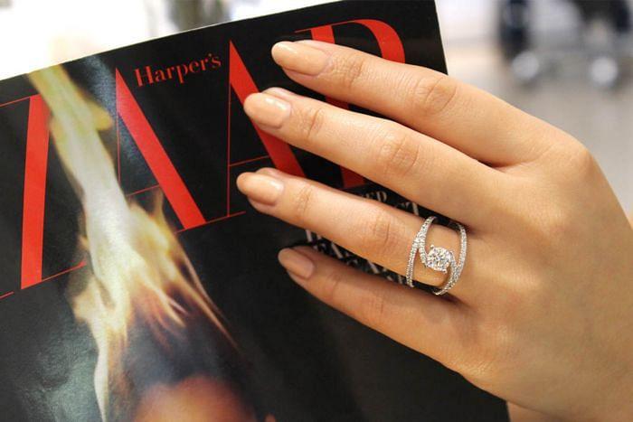 14K White Gold Round Split Shank Diamond Engagement Ring angle