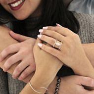 Aurora 14k White Gold Marquise  Halo Engagement Ring angle