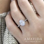 18K White Gold   Engagement Ring angle