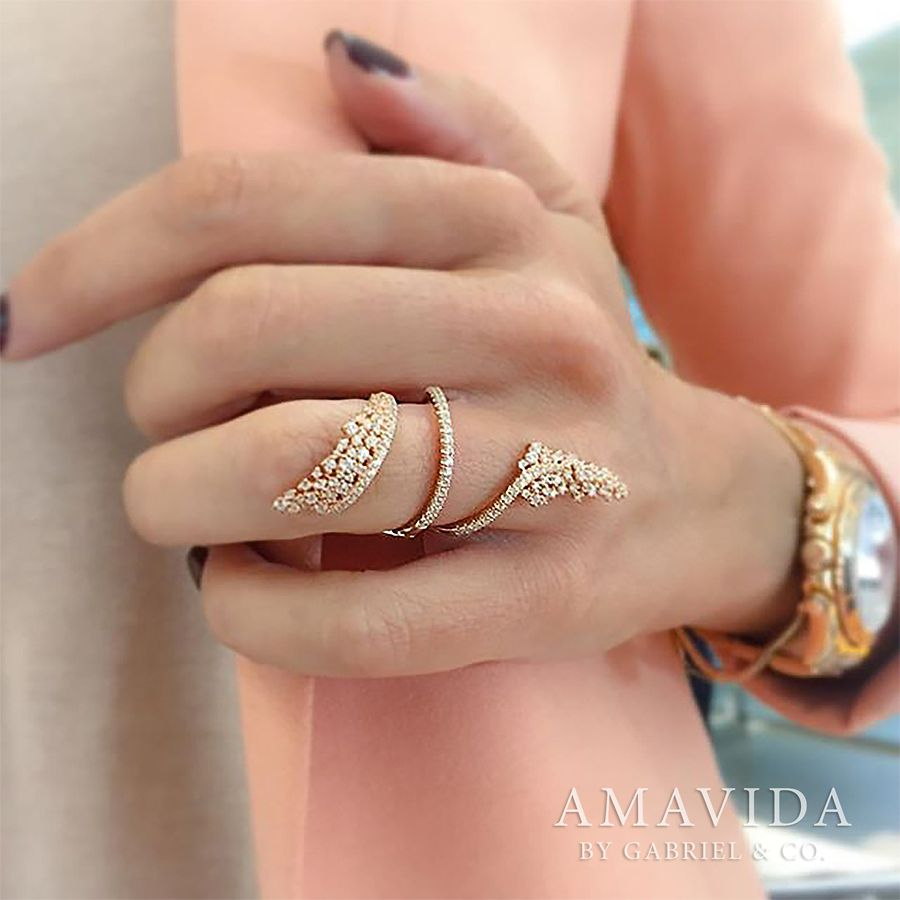 18K Rose Gold Fashion Ladies Ring