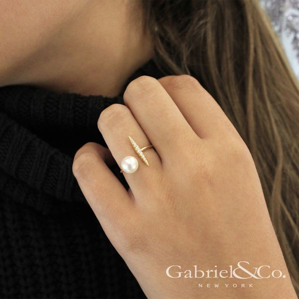14k Yellow Gold Grace Fashion Ladies' Ring angle