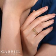 14K Yellow Gold Fashion Ladies' Ring angle