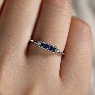 14k White Gold Victorian Fashion Ladies Ring angle