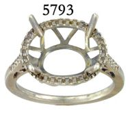 14K White Gold  Fashion Ladies' Ring angle