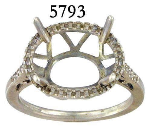 14K White Gold Fashion Ladies Ring angle