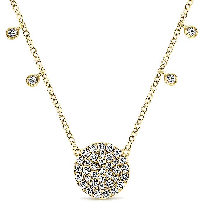 14K  Ylw Gold Diamond Necklace