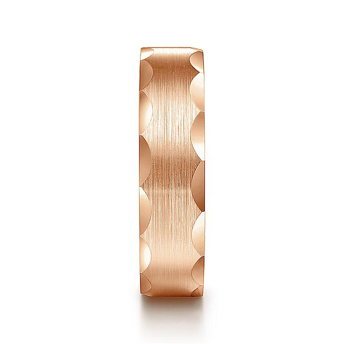 14K Pink Gold 6mm Men's Wedding Band