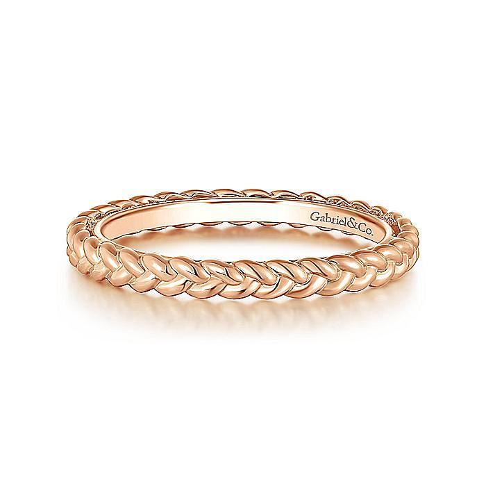 14K Pink Gold Fashion Ladies Ring