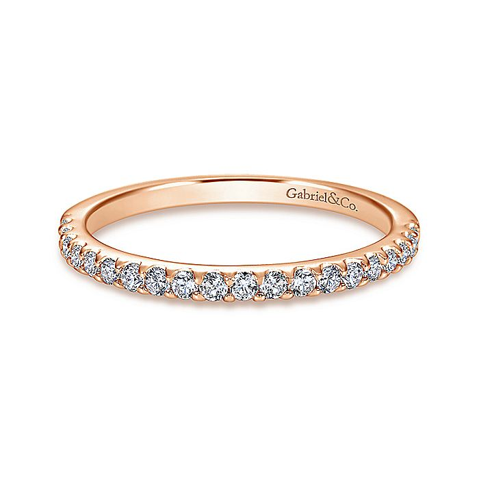 14K R.Gold Diamond W.Band