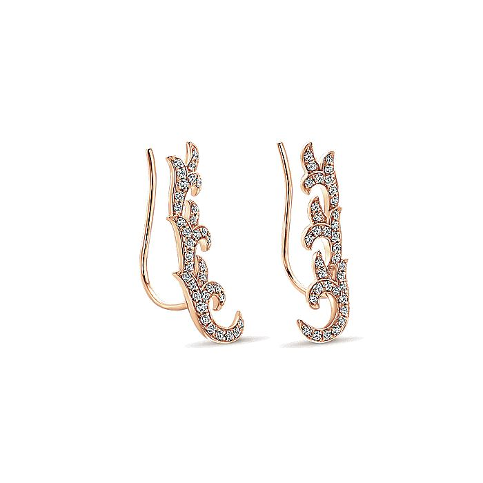 14K Rose Gold  Fashion Earrings
