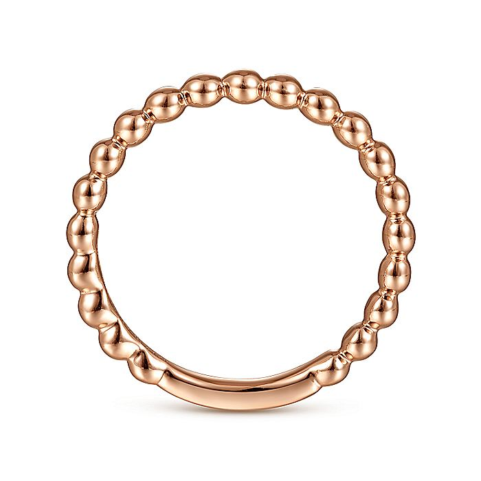 14K Rose Gold Bujukan Beaded Band