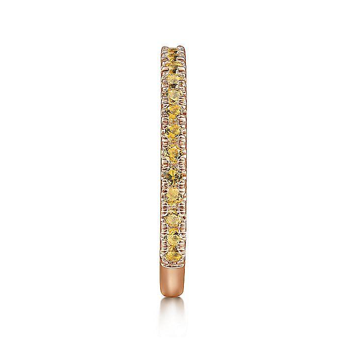 14K Rose Gold Citrine Band