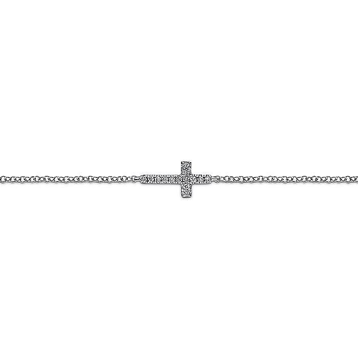 14K Rose Gold Cross Bracelet