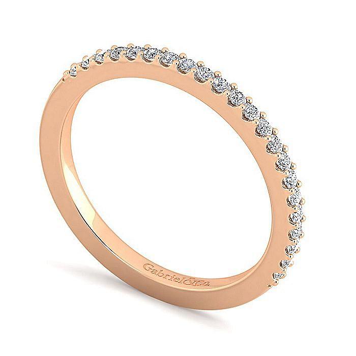 14K Rose Gold Diamond Diamond Matching Wedding Band