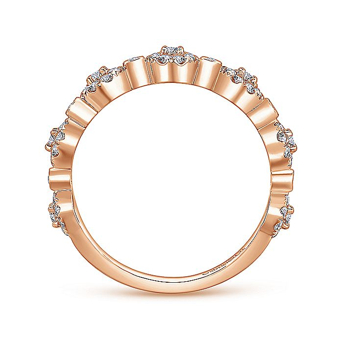 14K Rose Gold Diamond Ladies Ring