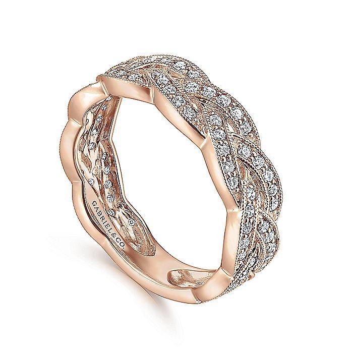 14K Rose Gold Diamond Ladies Ring
