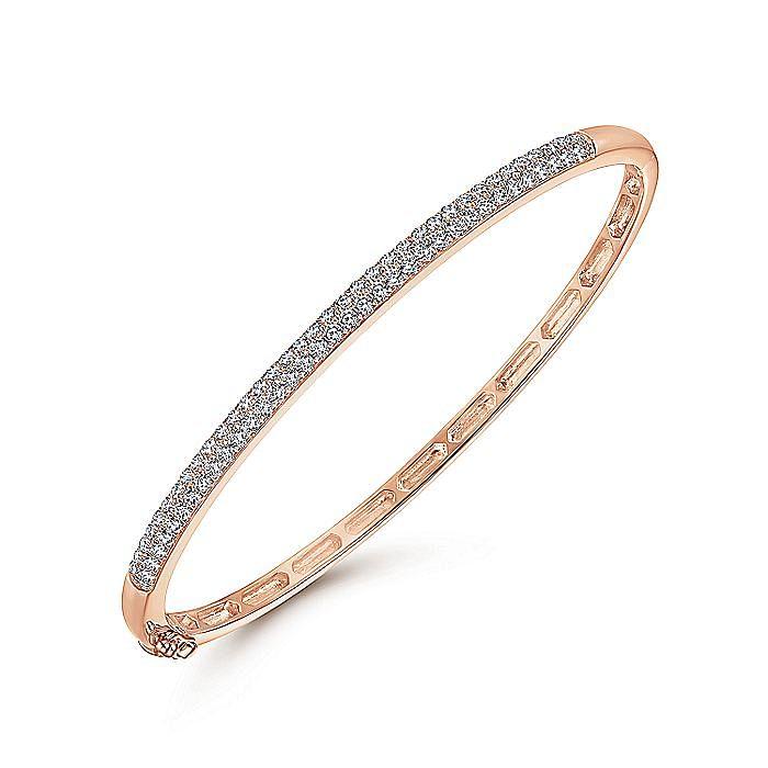 14K Rose Gold Diamond Pavé Bangle