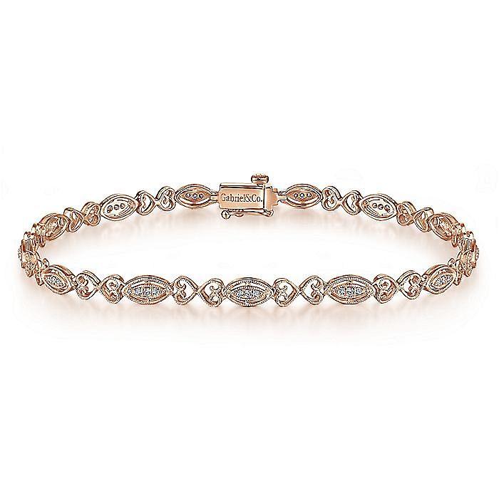 14K Rose Gold Diamond Tennis Bracelet