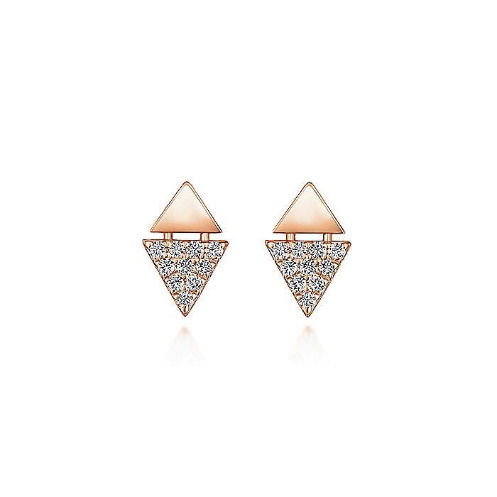 14K Rose Gold Fashion Earrings