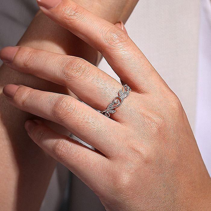 14K Rose Gold Fashion Ladies Ring