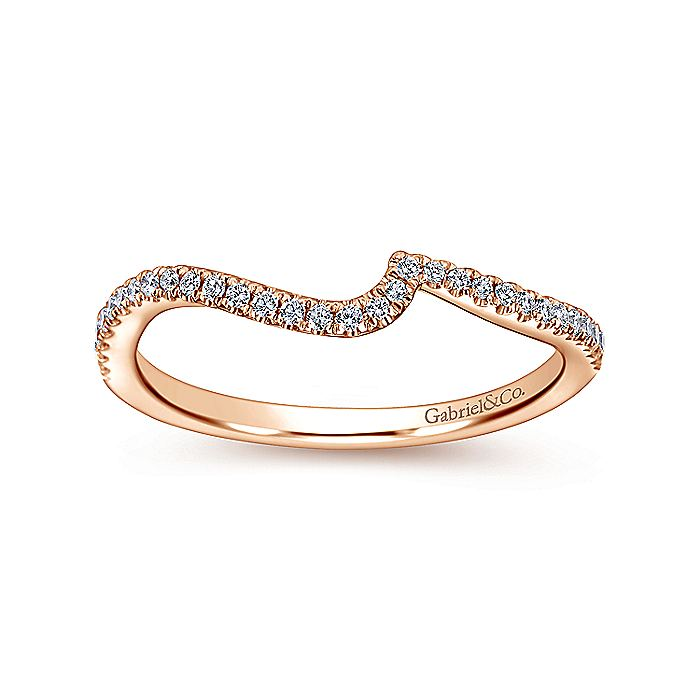 14K Rose Gold Matching Wedding Band