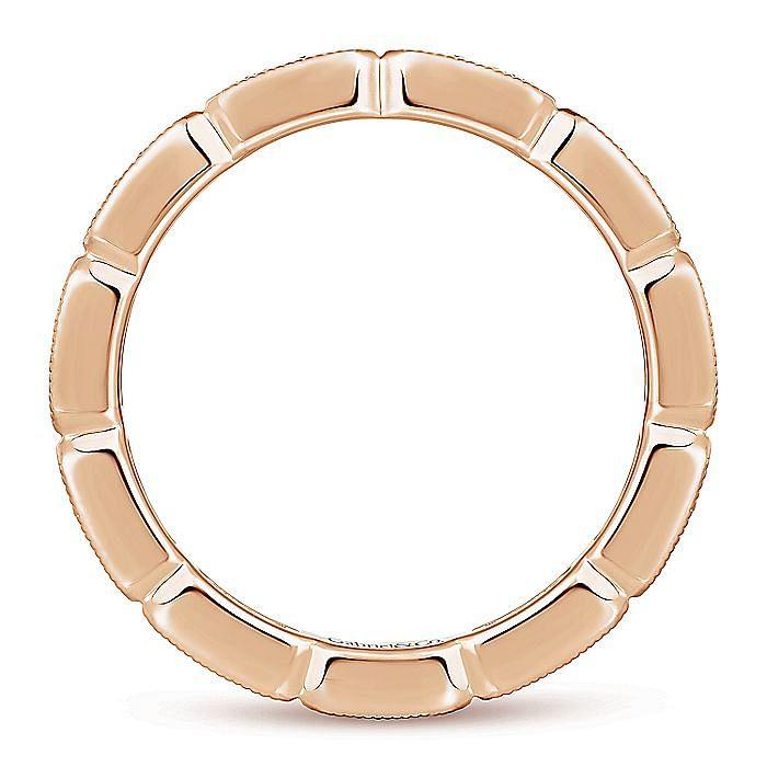 14K Rose Gold Rectangular Station Diamond Eternity Ring