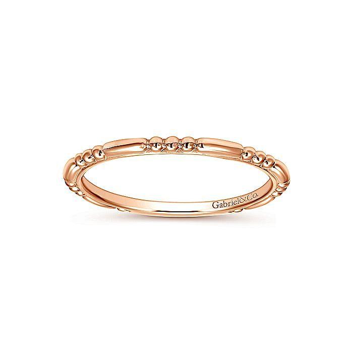 14K Rose Gold Sculpted Midi Ladies' Ring