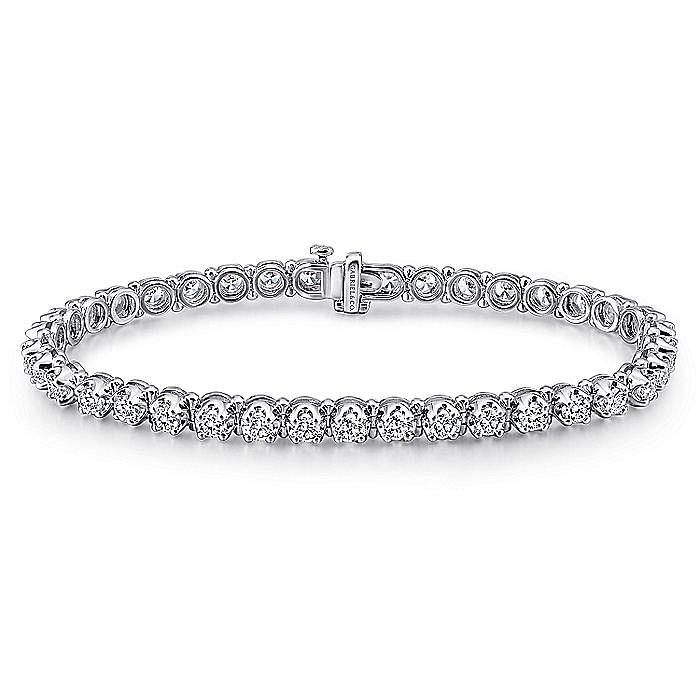 14K White Gold  Bracelet