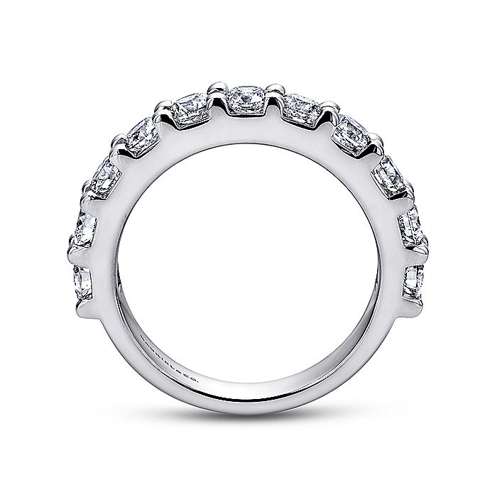 14K White Gold 11 Stone Shared Prong Diamond Anniversary Band